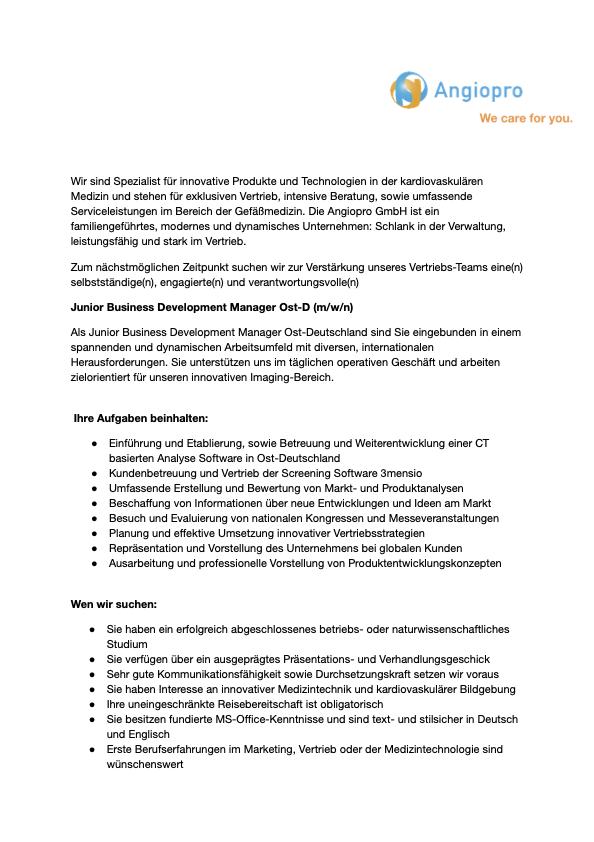 Junior Business Development Manager IT_OST_S1